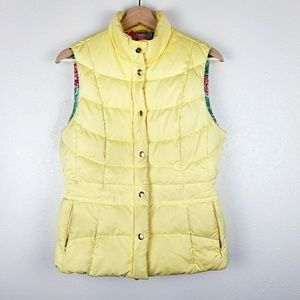 Lilly Pulitzer | Yellow Down Feather Puffer Vest